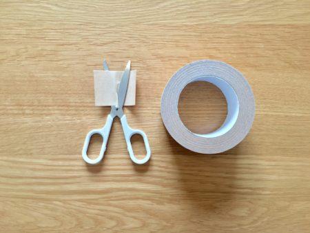軽く切れるはさみでガムテープを切ってみた